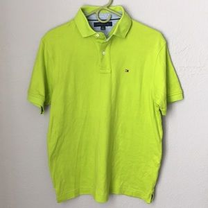 Tommy Hilfiger Neon Green Polo shirt size M